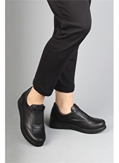 Modabuymus Modabuymus Hakiki Deri Lastikli Oxford Kadın Ayakkabı - Kazbi